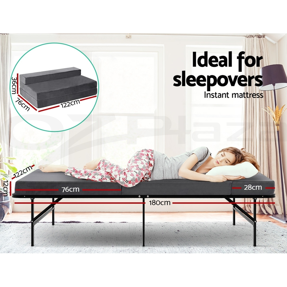 Giselle-Bedding-Folding-Foam-Mattress-Single-Double-Portable-Bed-Mat-Lounge thumbnail 22