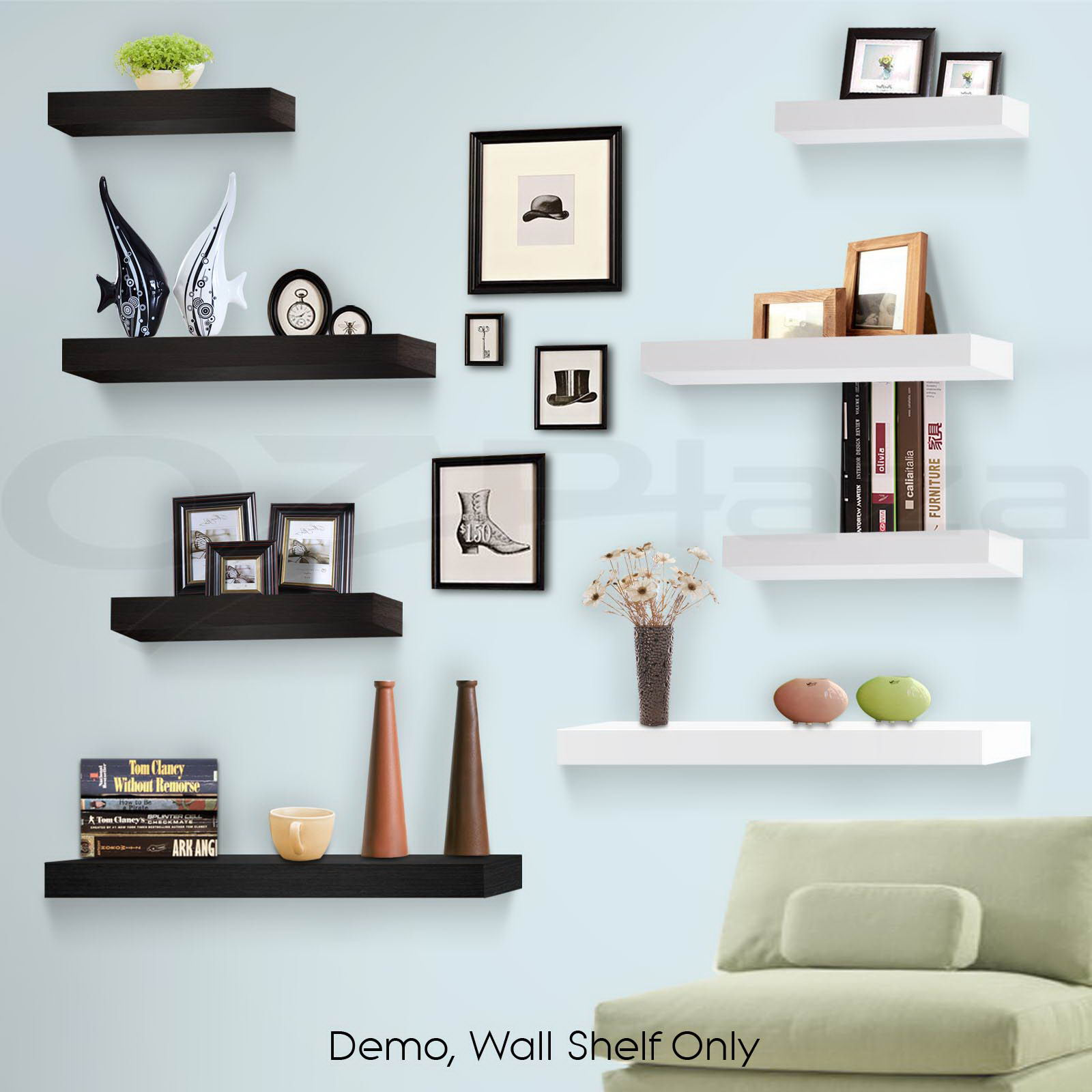 Design Display Bookshelf 3pcs wall floating shelf set concealed shelves bookshelf shop bookshelf