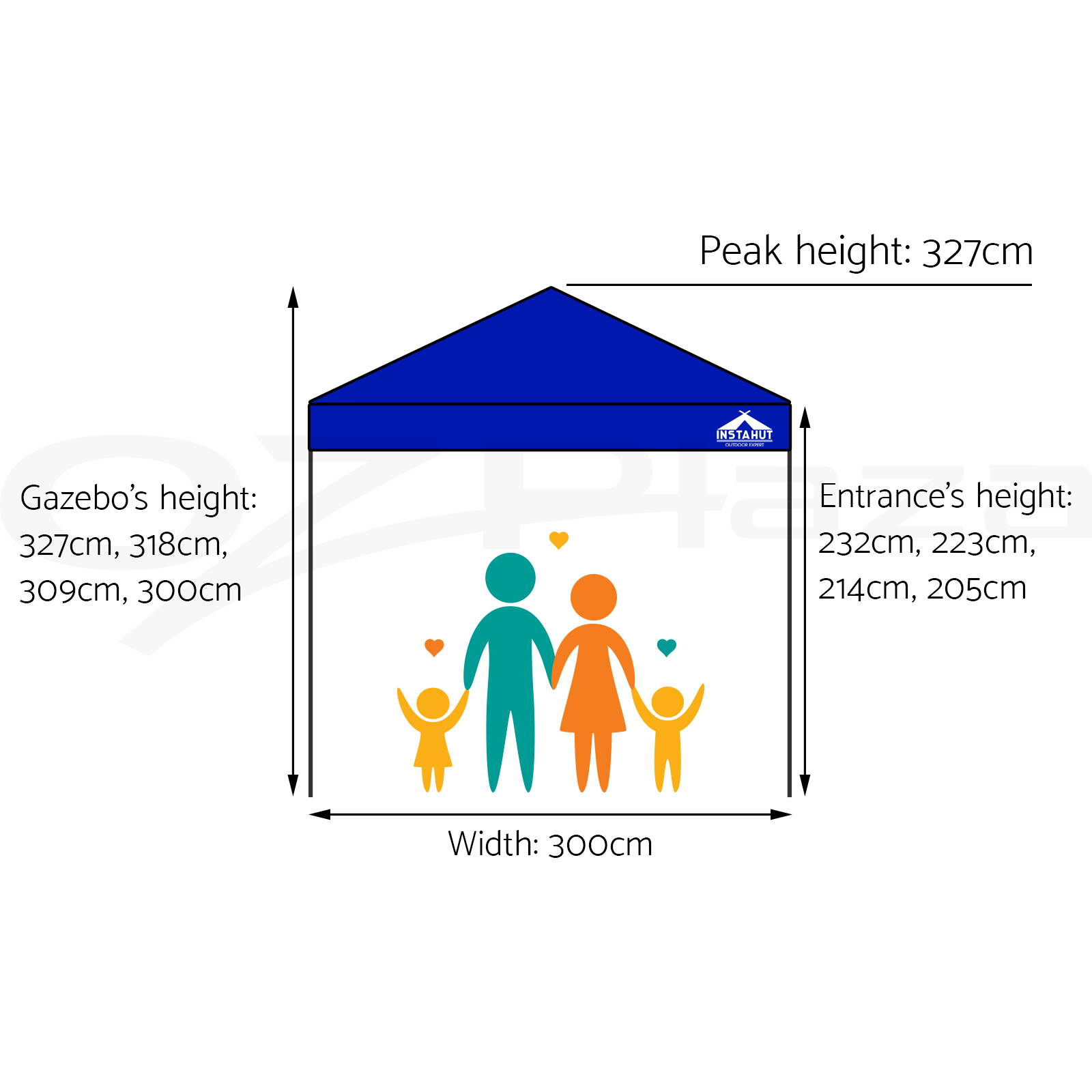 3x3m-Gazebo-Outdoor-Pop-Up-Tent-Folding-Marquee-Party-Wedding-Camping-Canopy