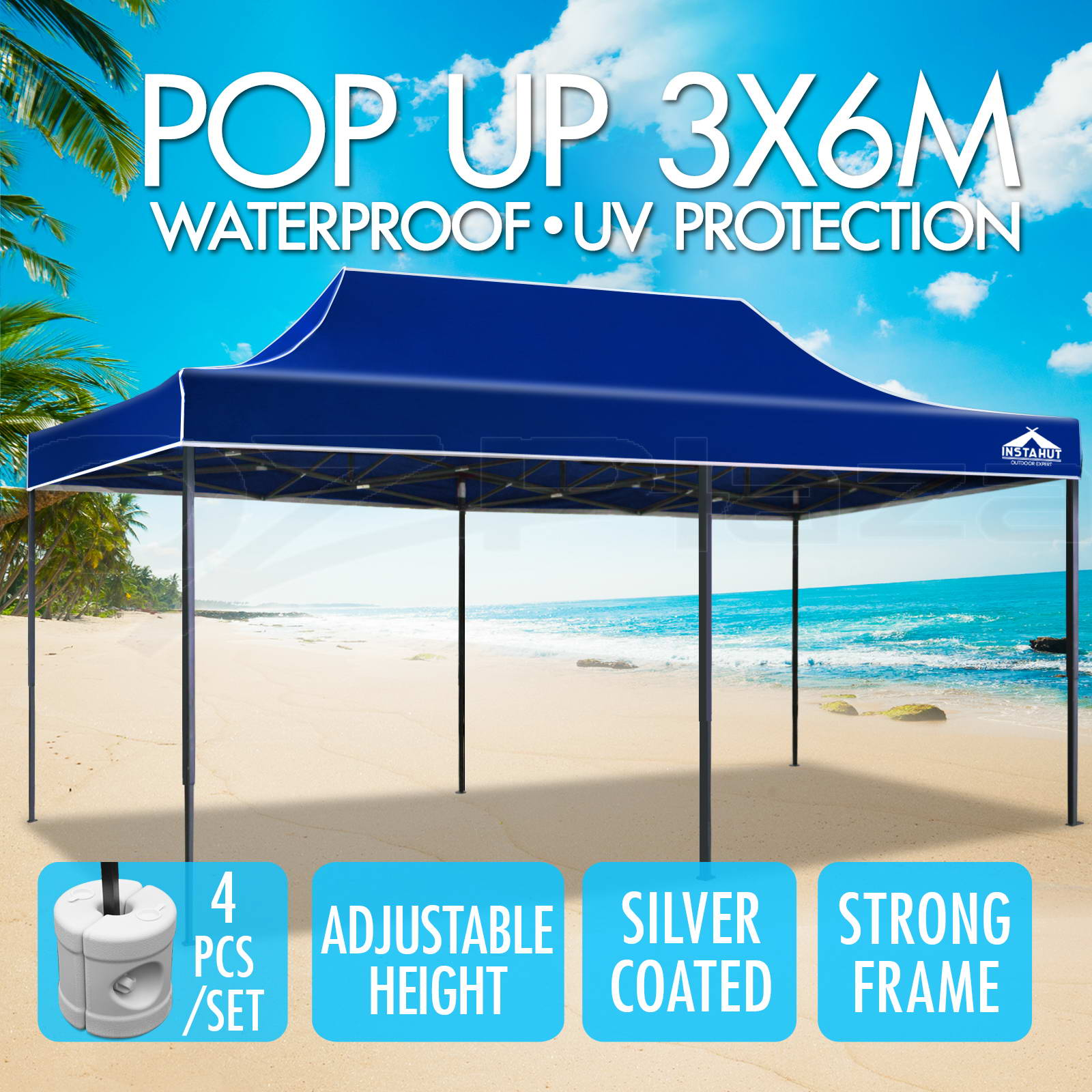 Instahut-3x6m-Gazebo-Outdoor-Pop-Up-Tent-Folding-Marquee-Party-Camping-Canopy