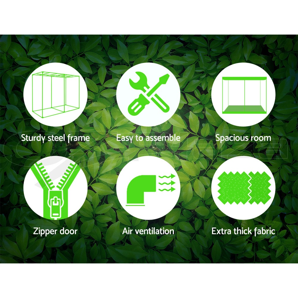 Greenfingers-Hydroponic-Grow-Tent-Kit-Reflective-Indoor-System-600D-Oxford-Cloth thumbnail 32