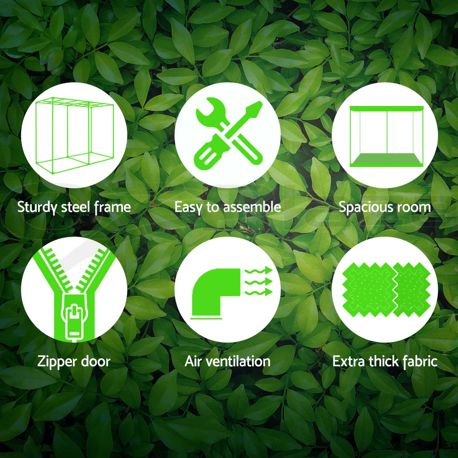 Greenfingers-Hydroponic-Grow-Tent-Kit-Reflective-Indoor-System-600D-Oxford-Cloth thumbnail 78