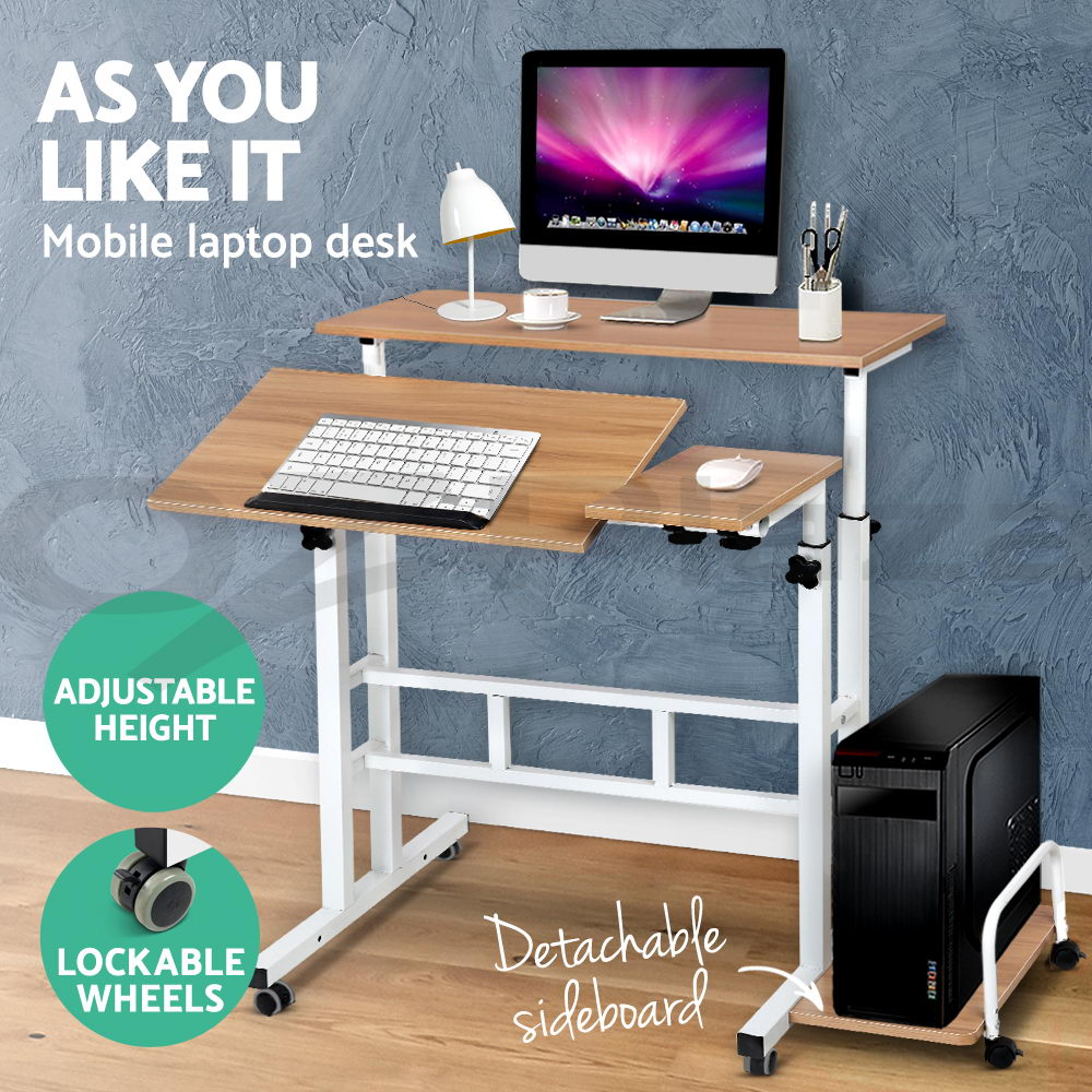 Mobile Portable Laptop Desk Computer Office Stand Height ...