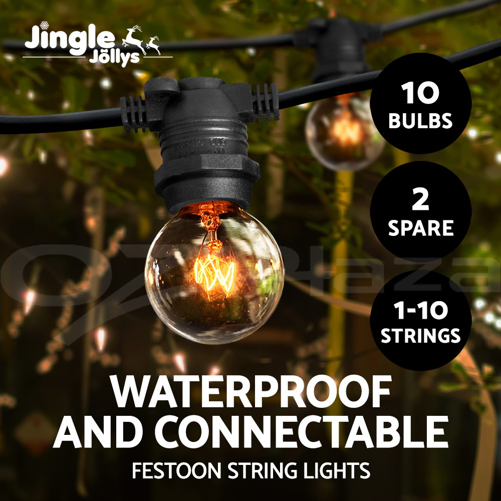 Jingle-Jollys-1-10-String-Festoon-Lights-Kits-  sc 1 st  eBay : festoon lighting definition - www.canuckmediamonitor.org