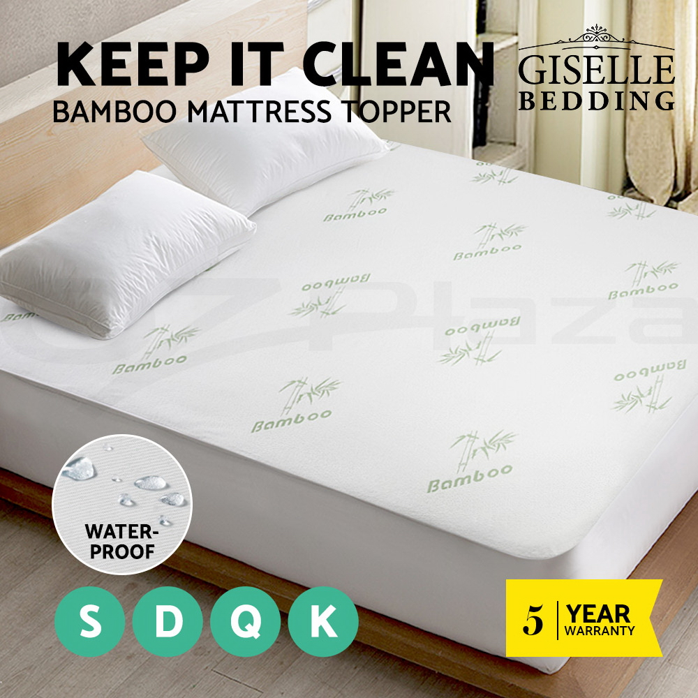 Giselle-Waterproof-Mattress-Protector-Queen-Bamboo-Fibre-Cotton-Cover-All-Size thumbnail 14