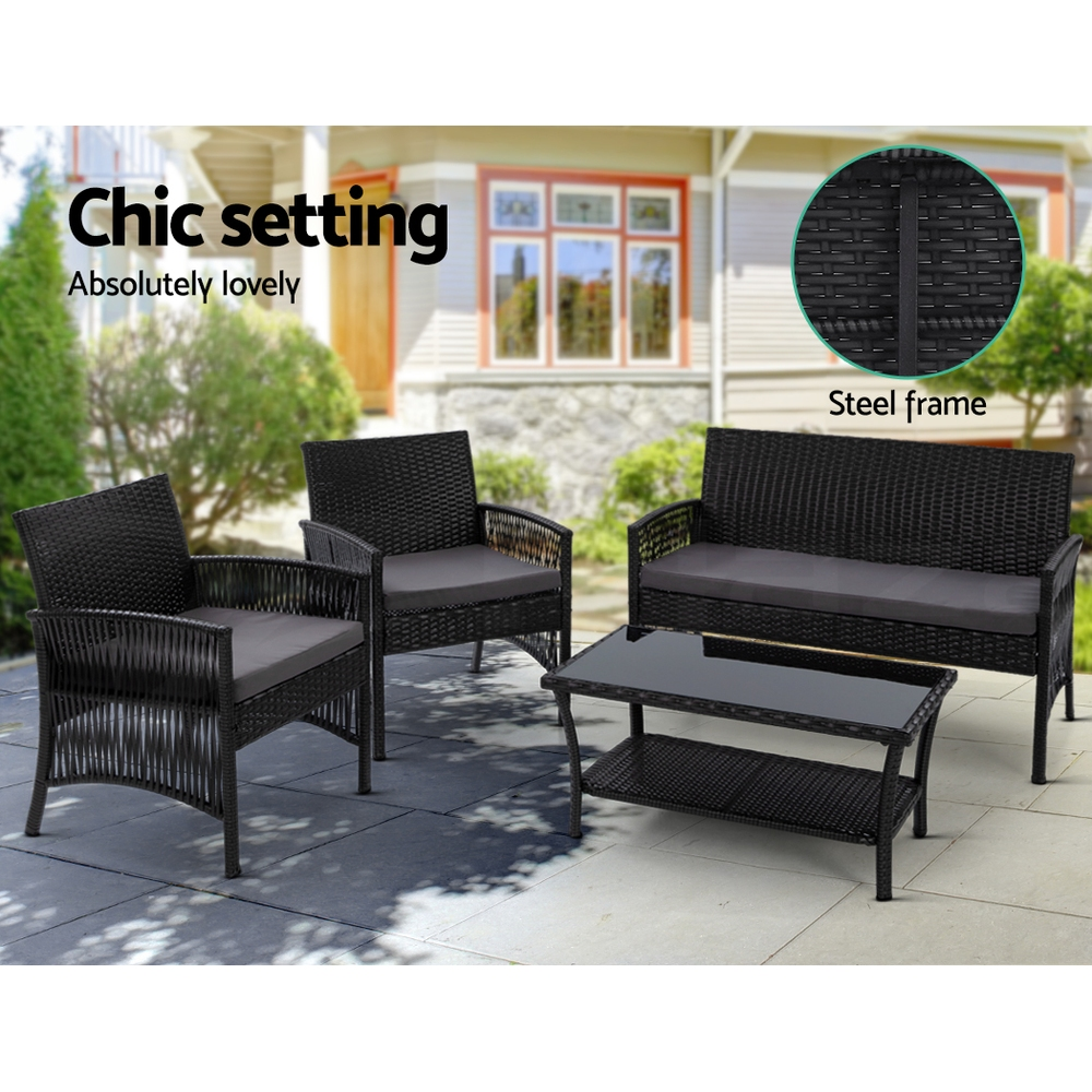 Gardeon-Outdoor-Furniture-Sofa-Lounge-Setting-Wicker-Chair-Table-Garden-Patio thumbnail 62