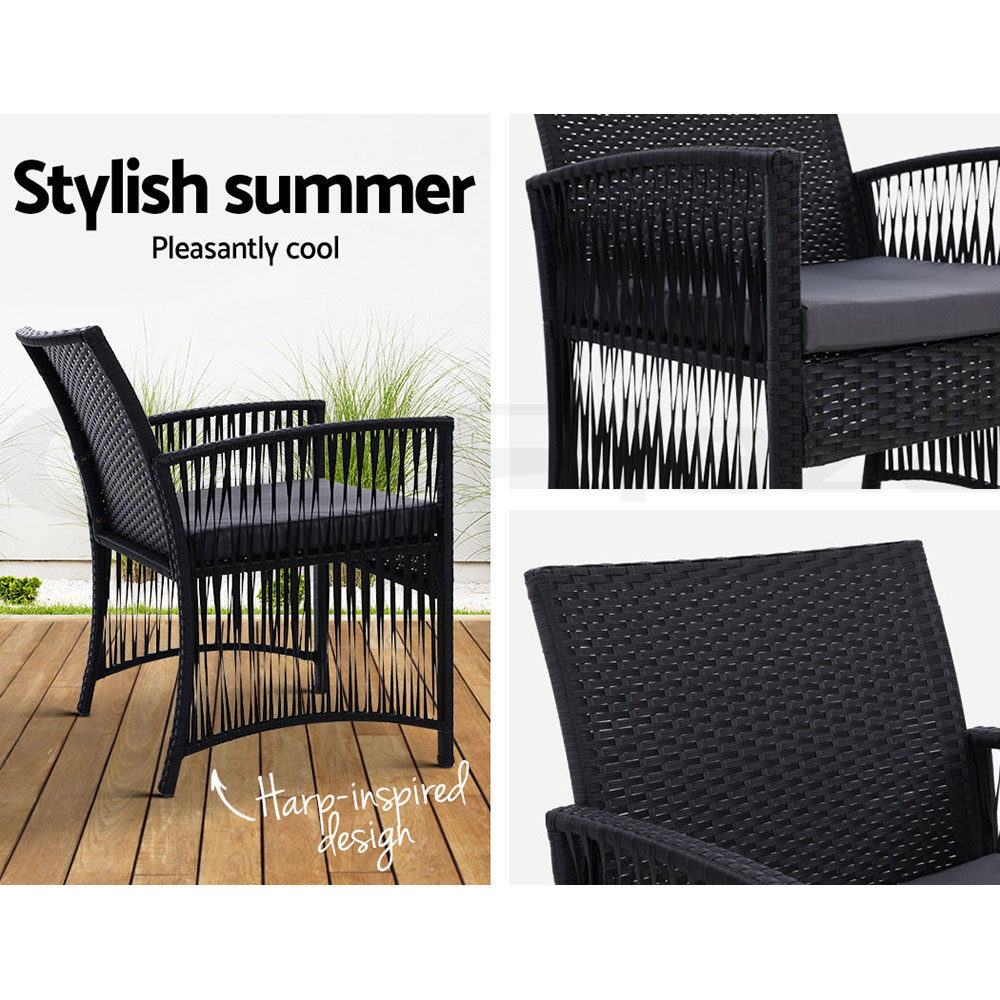 thumbnail 25 - Gardeon Outdoor Furniture Dining Chairs Chair Table Patio Bistro Garden Coffee