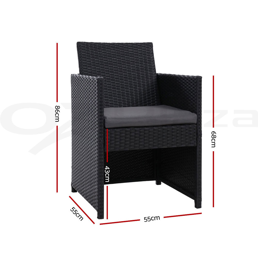 thumbnail 148 - Gardeon Outdoor Furniture Dining Chairs Chair Table Patio Bistro Garden Coffee