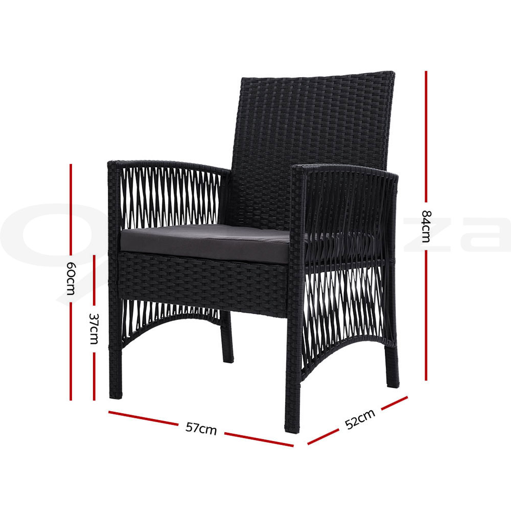 thumbnail 194 - Gardeon Outdoor Furniture Dining Chairs Chair Table Patio Bistro Garden Coffee