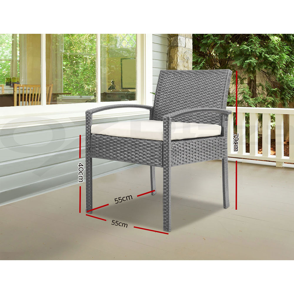 thumbnail 112 - Gardeon Outdoor Furniture Dining Chairs Chair Table Patio Bistro Garden Coffee