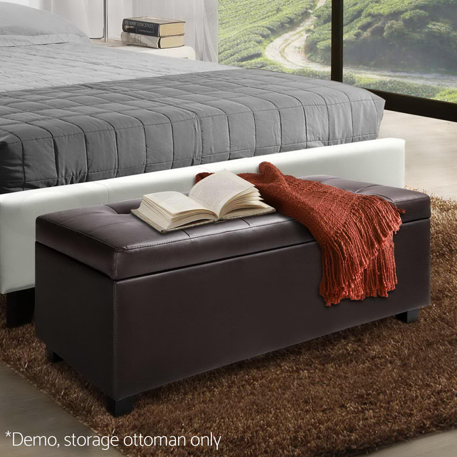 Blanket-Box-Storage-Ottoman-PU-Leather-Fabric-Chest-Toy-Foot-Stool-Bed