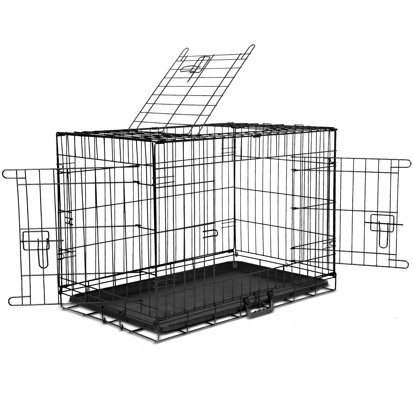 "thumbnail 107 - i.Pet Pet Dog Cage Crate Kennel Cat Collapsible Metal Cages 24""~ 48"" Playpen"