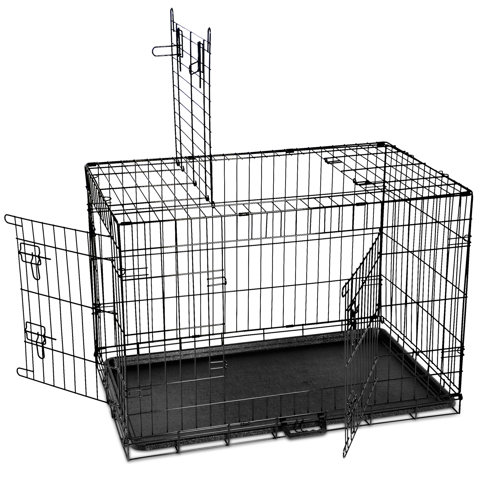 "thumbnail 98 - i.Pet Pet Dog Cage Crate Kennel Cat Collapsible Metal Cages 24""~ 48"" Playpen"