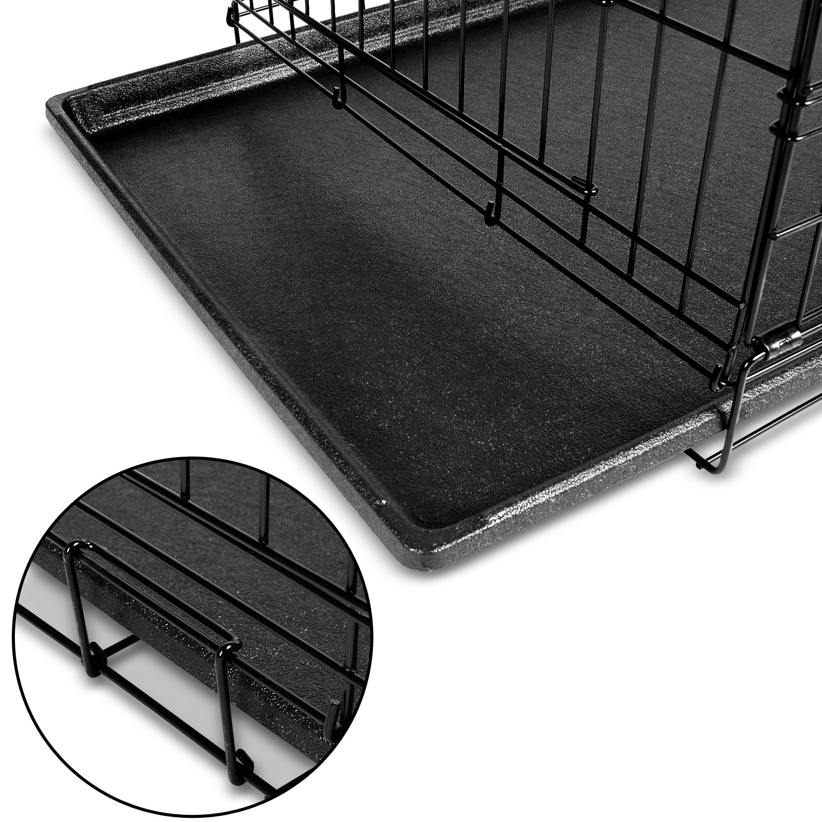 "thumbnail 128 - i.Pet Pet Dog Cage Crate Kennel Cat Collapsible Metal Cages 24""~ 48"" Playpen"