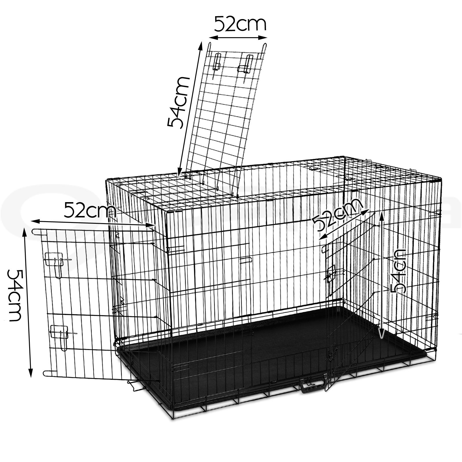 "thumbnail 142 - i.Pet Pet Dog Cage Crate Kennel Cat Collapsible Metal Cages 24""~ 48"" Playpen"