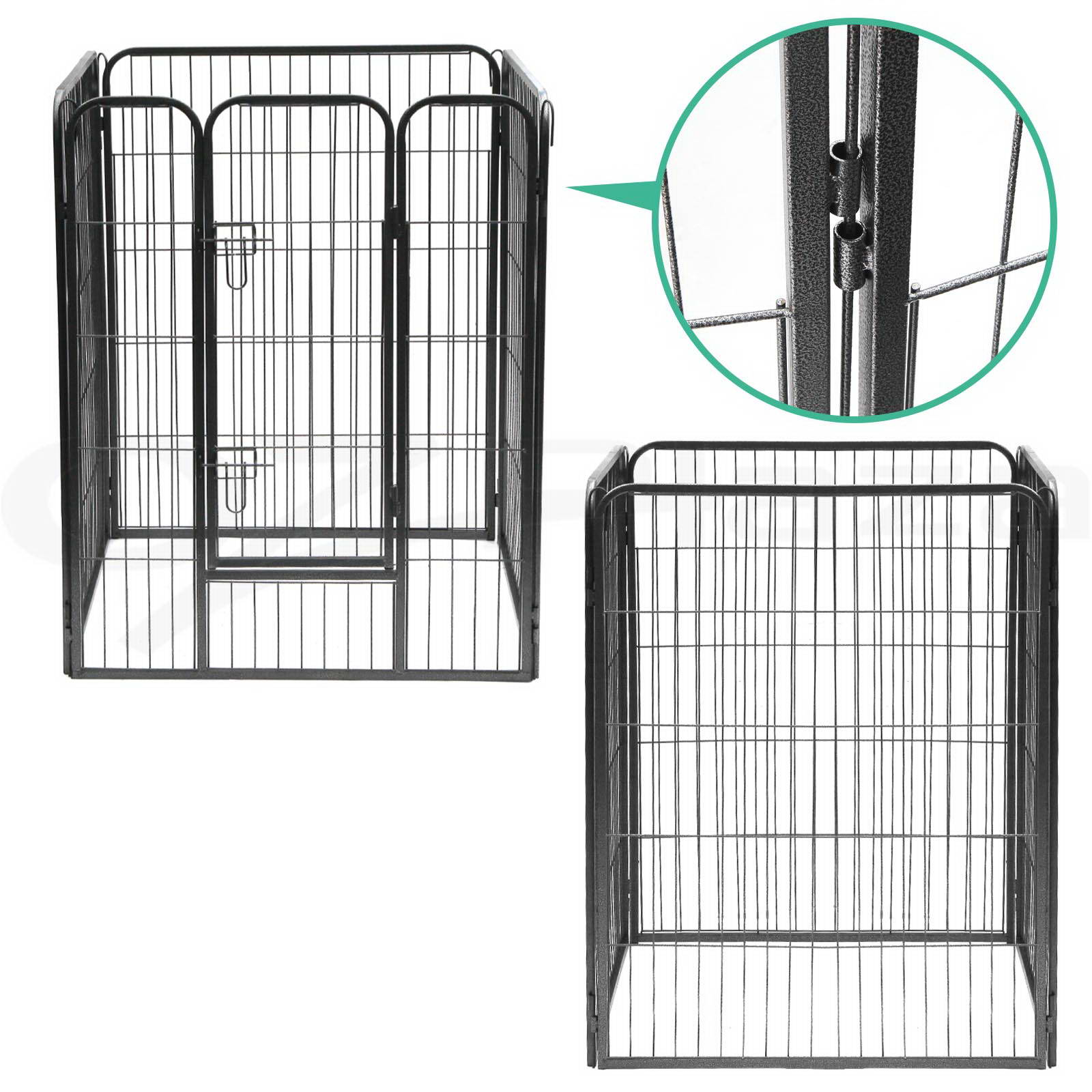 thumbnail 18 - i-Pet-8-Panel-Pet-Dog-Playpen-Enclosure-Puppy-Exercise-Cage-Fence-24-034-32-034-40-034