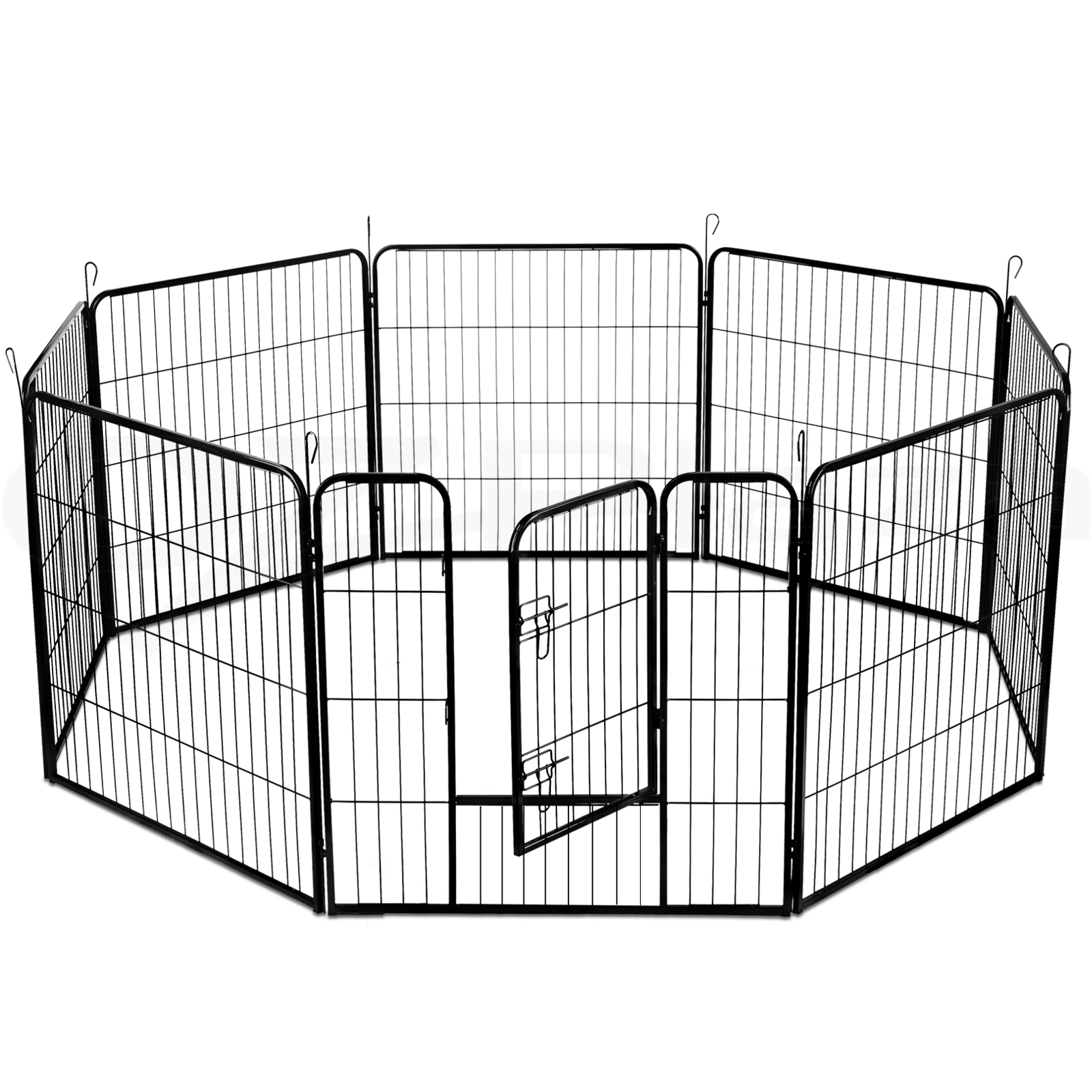 thumbnail 30 - i-Pet-8-Panel-Pet-Dog-Playpen-Enclosure-Puppy-Exercise-Cage-Fence-24-034-32-034-40-034
