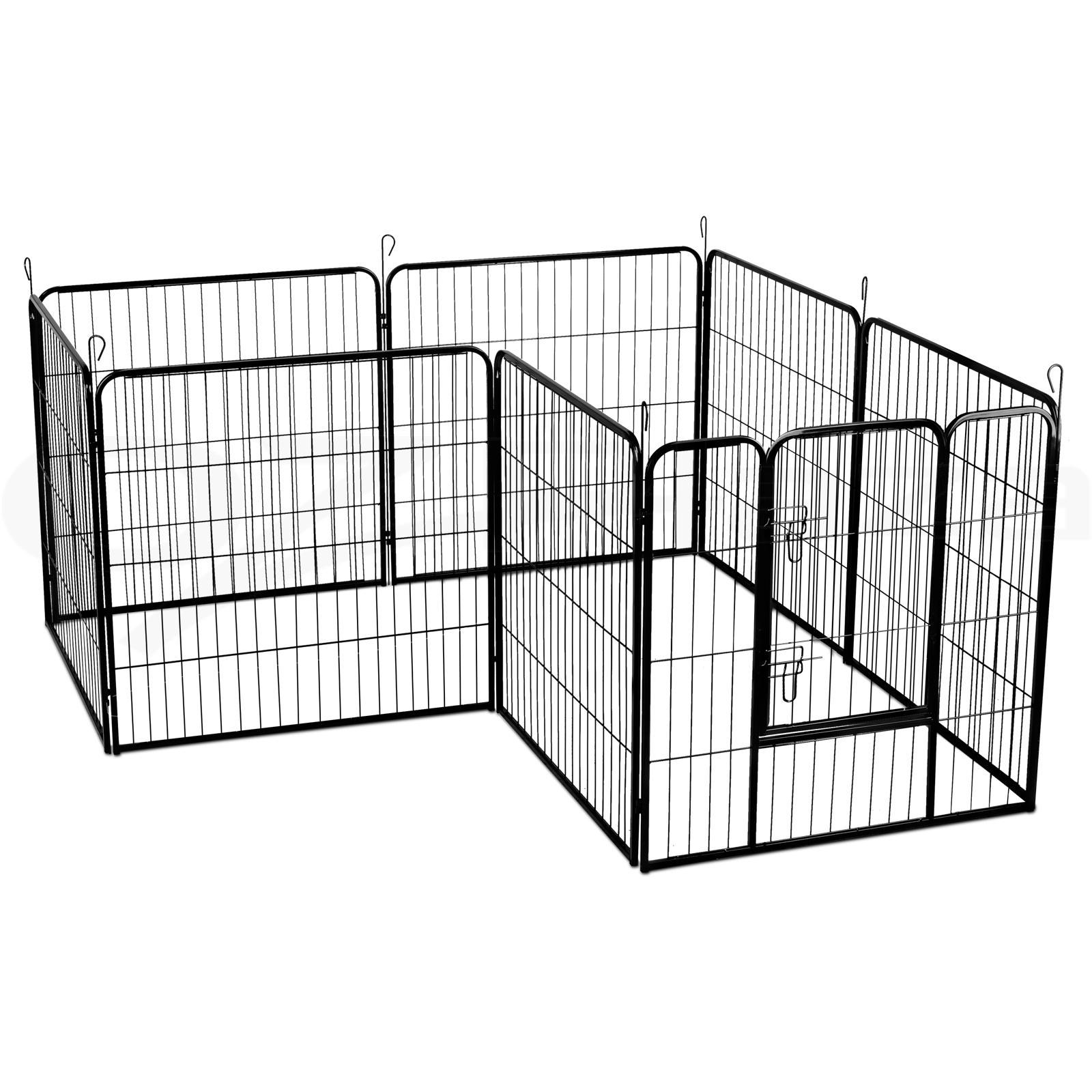 thumbnail 33 - i-Pet-8-Panel-Pet-Dog-Playpen-Enclosure-Puppy-Exercise-Cage-Fence-24-034-32-034-40-034