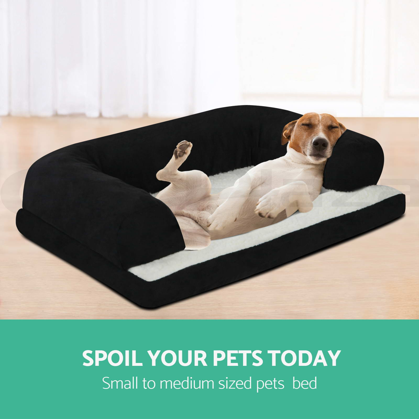 i-Pet-Deluxe-Couch-Pet-Bed-Bolster-Soft-Dog-Cat-Sofa-Warm-Cushion-Fleece-M-XL