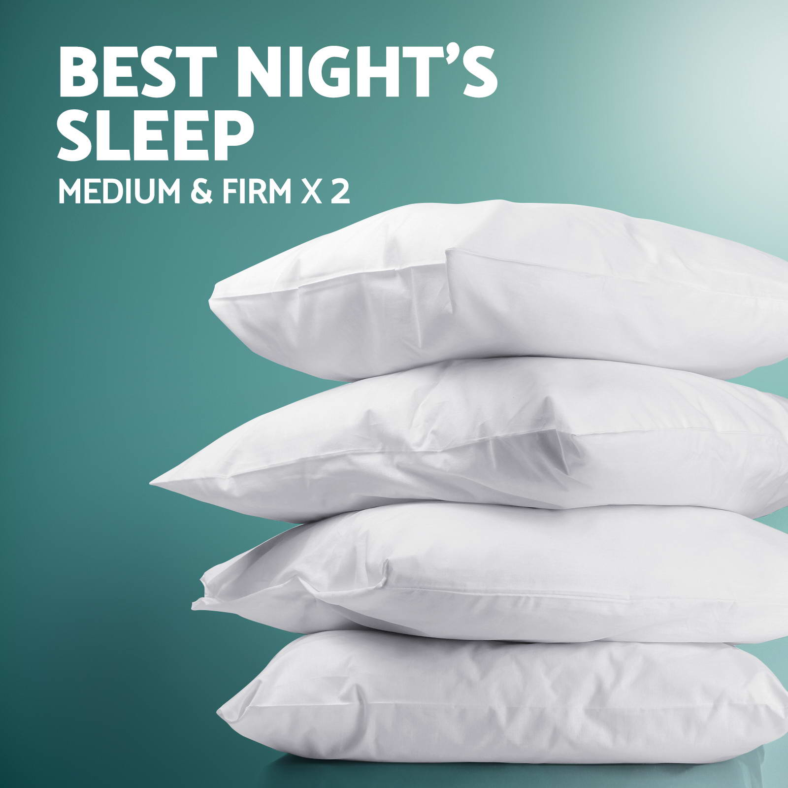 Family Hotel 4 Pack Bed Pillows Soft Medium Firm Cotton