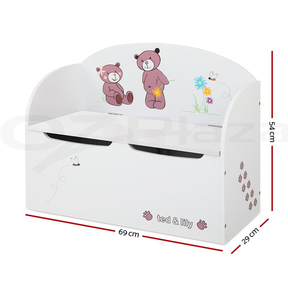 Kids Storage Bench Furniture Toy Box Bedroom Playroom: Keezi Kids Toy Box Storage Chest Bedroom Furniture Chair