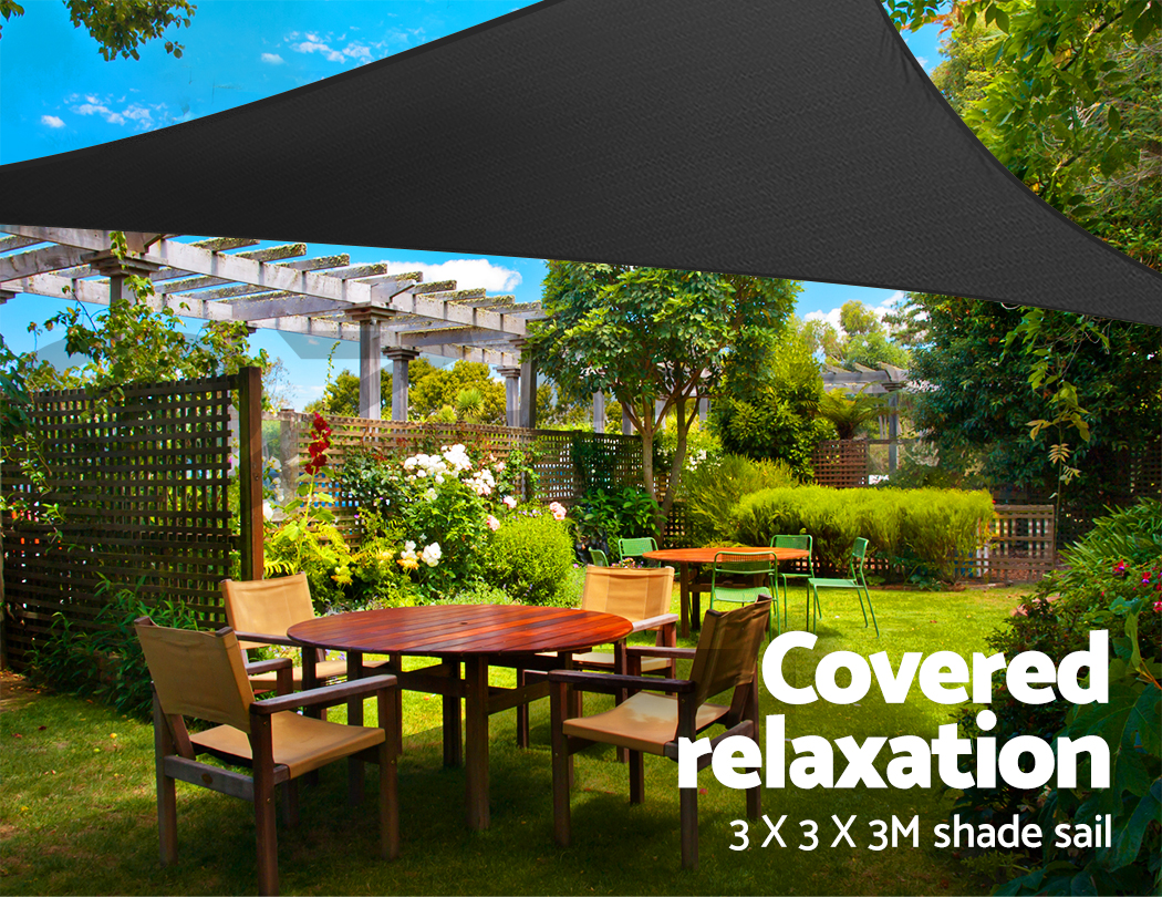 Instahut Sun Shade Sail Cloth Shadecloth Triangle Canopy