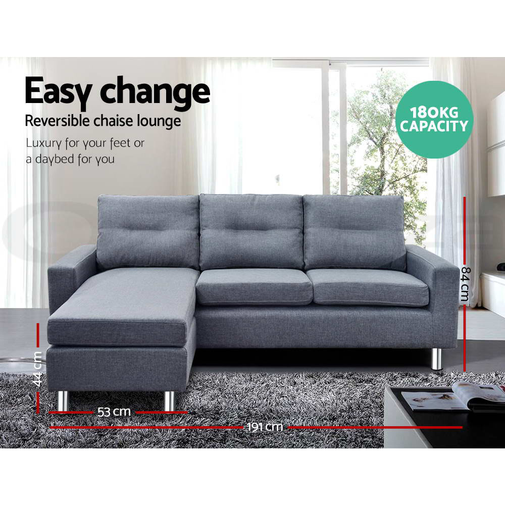 thumbnail 62 - Artiss Sofa Bed Lounge Set Couch Futon 3/5 Seater Corner Chaise Leather Fabric