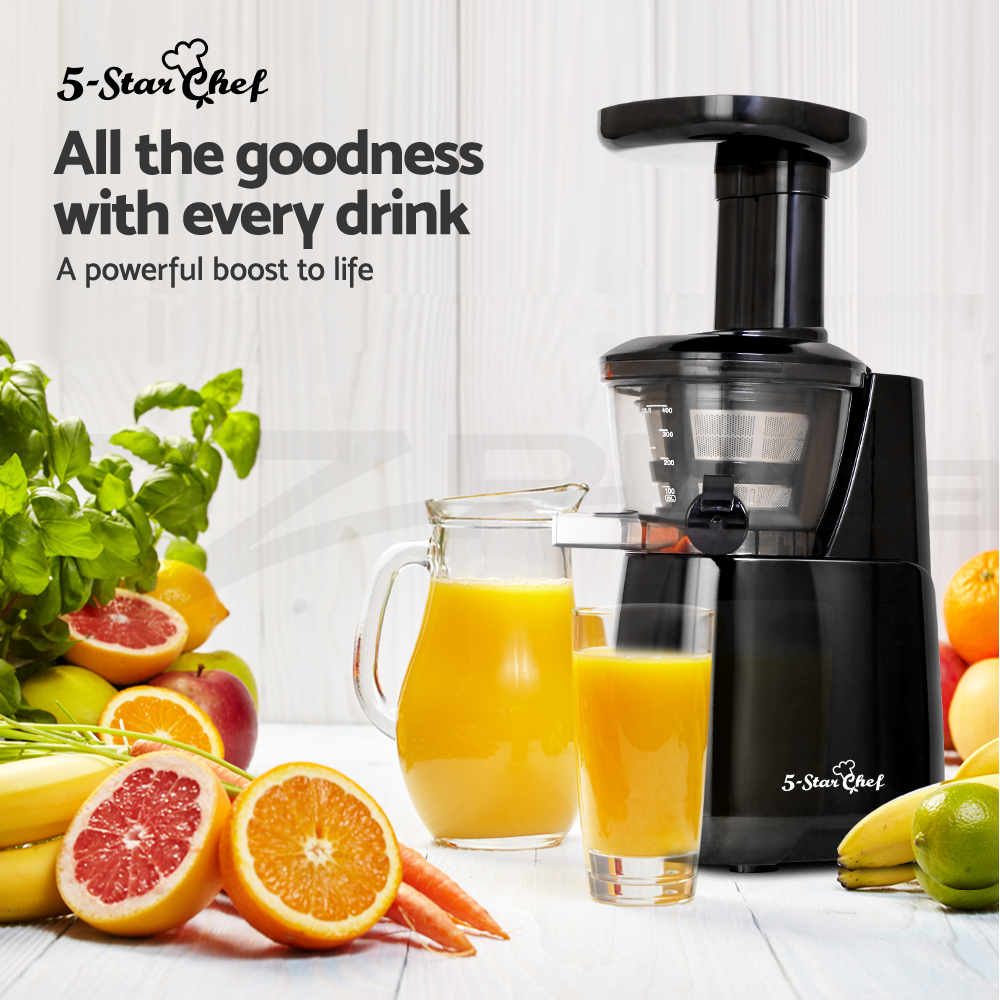 5-Star-Chef-Cold-Press-Slow-Juicer-Fruit-Vegetable-Processor-Mixer-Extractor