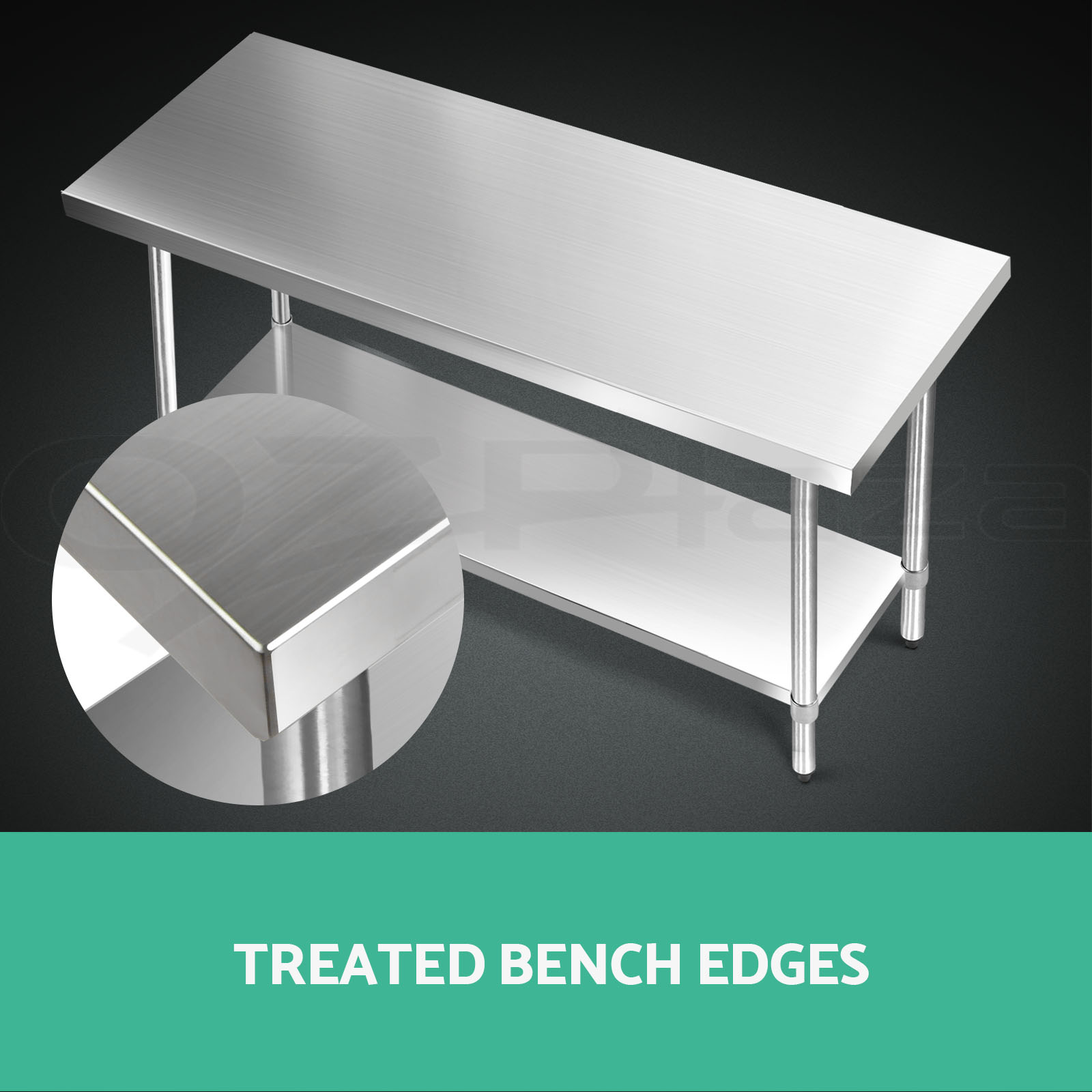 Cefito 304/430 Commercial Stainless Steel Kitchen Bench