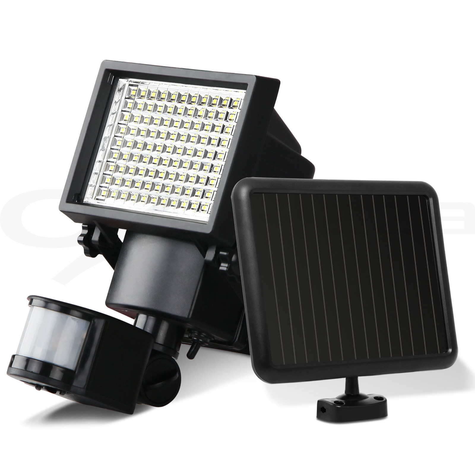 2x 100 Led Solar Sensor Light Outdoor Security Floodlights
