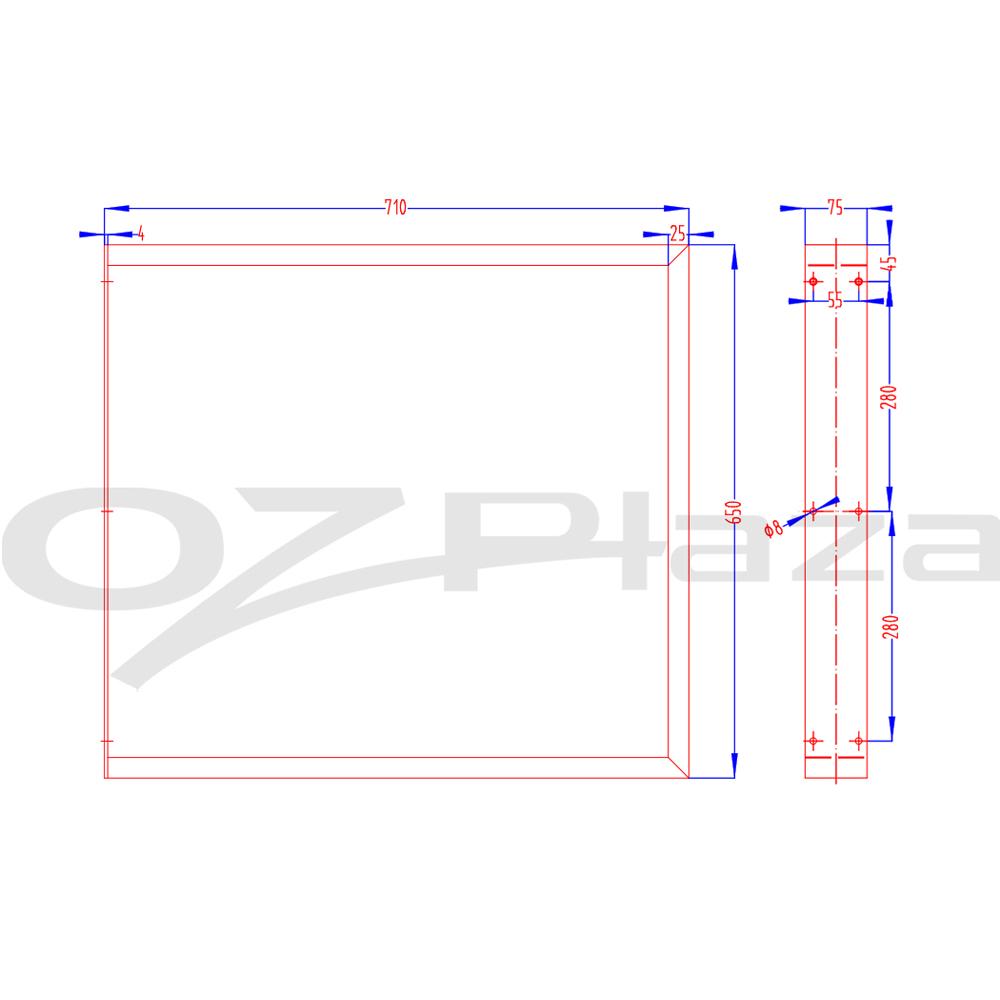 thumbnail 26 - Artiss Coffee Dining Table Legs Steel Industrial Bench Metal Box Trapezoid Black