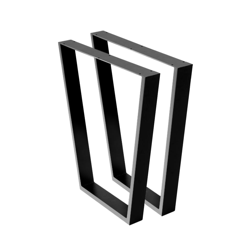 thumbnail 36 - Artiss Coffee Dining Table Legs Steel Industrial Bench Metal Box Trapezoid Black