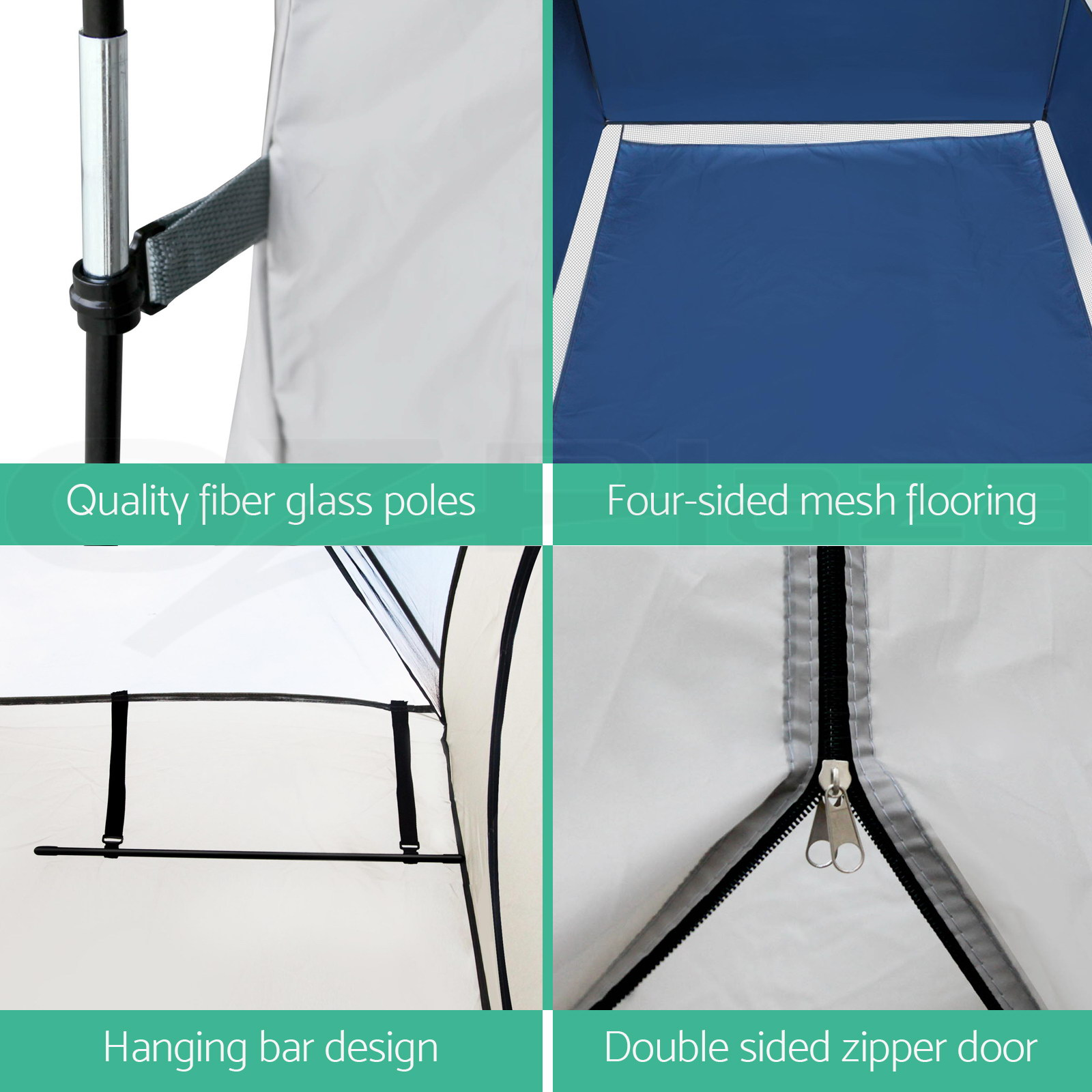 Double-Camping-Shower-Toilet-Tent-Outdoor-Portable-Change-Room-Shelter-Ensuite