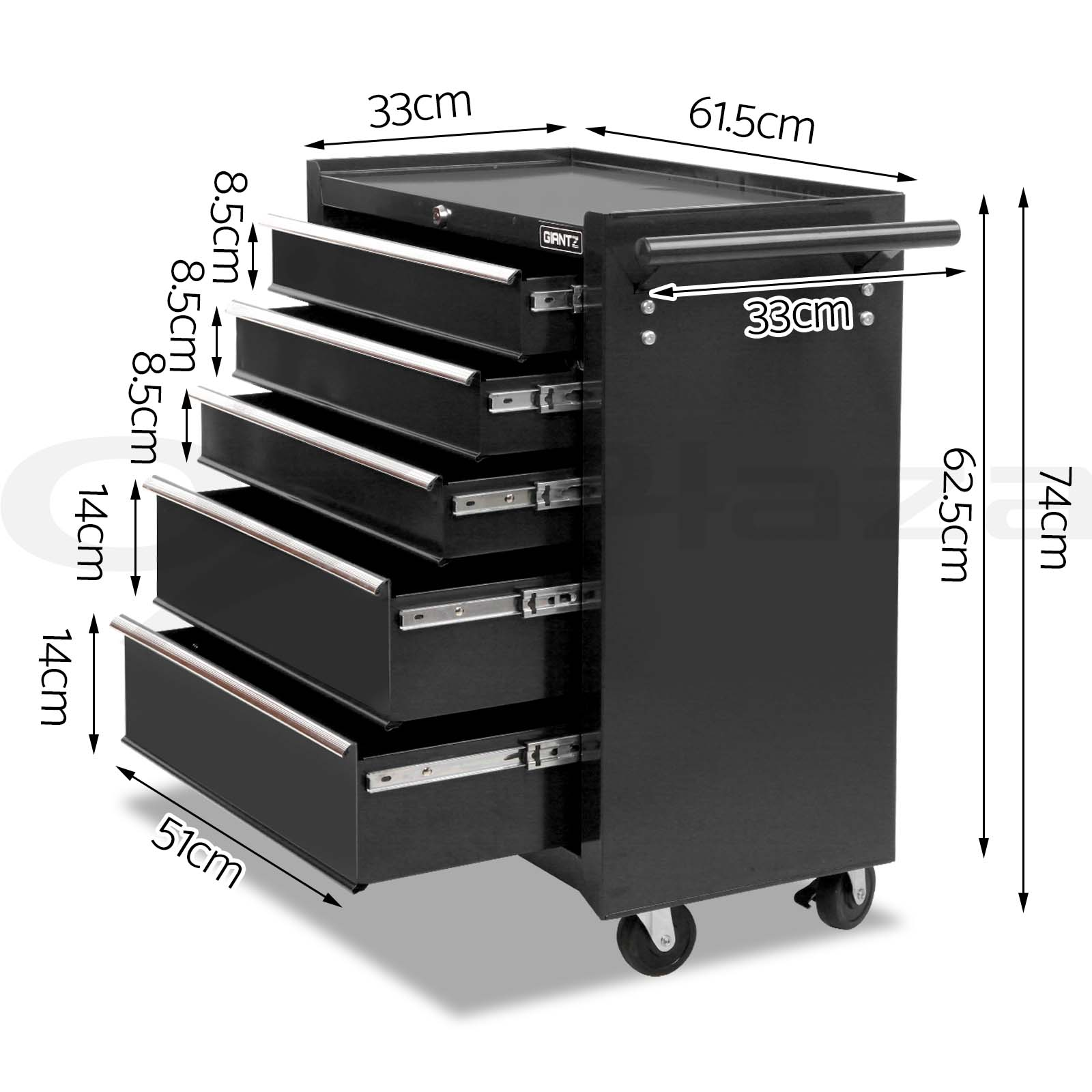 Giantz-Tool-Box-Chest-Toolbox-Cabinet-Trolley-Garage-Storage-5-15-Drawers-Boxes thumbnail 23