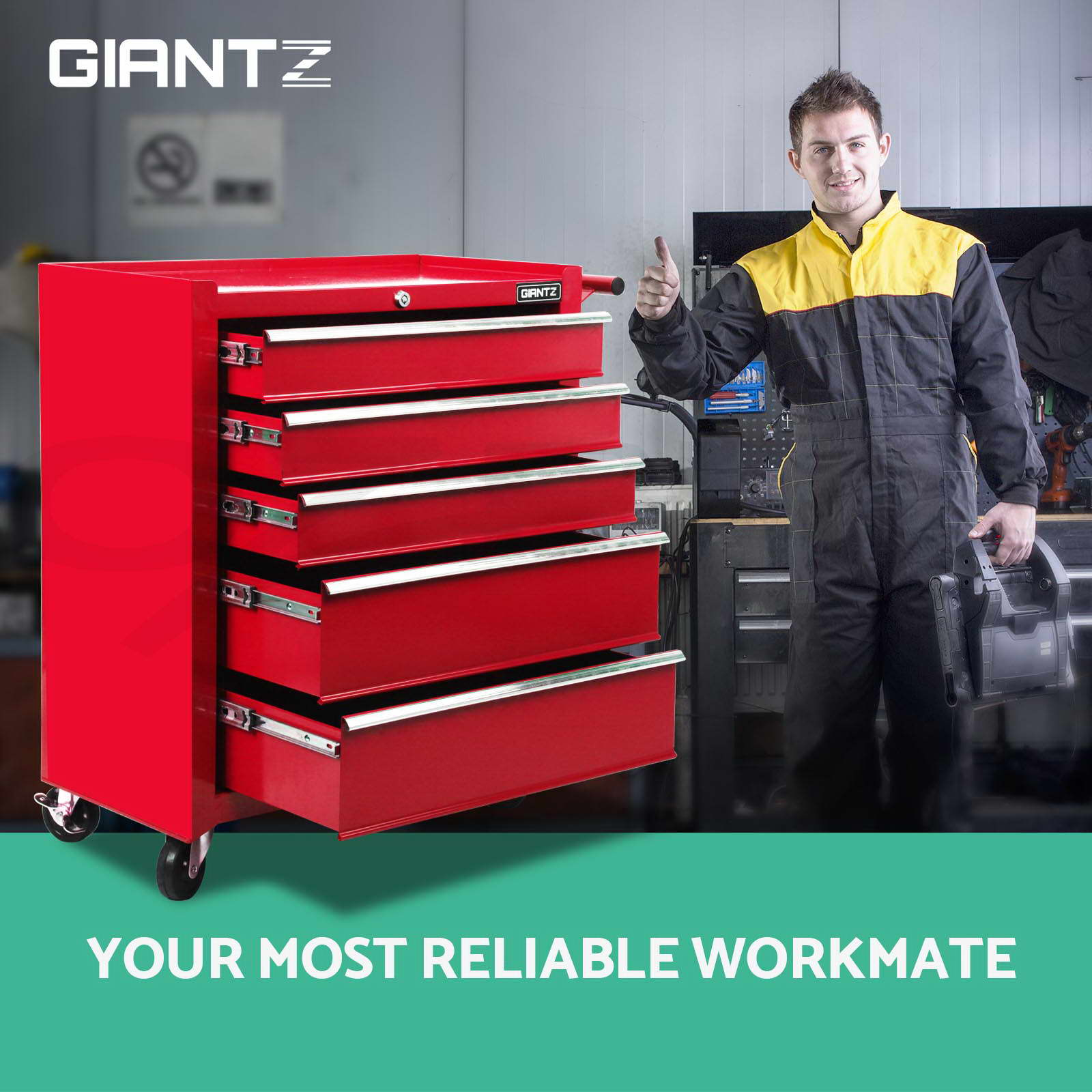 Giantz-Tool-Box-Chest-Toolbox-Cabinet-Trolley-Garage-Storage-5-15-Drawers-Boxes thumbnail 136
