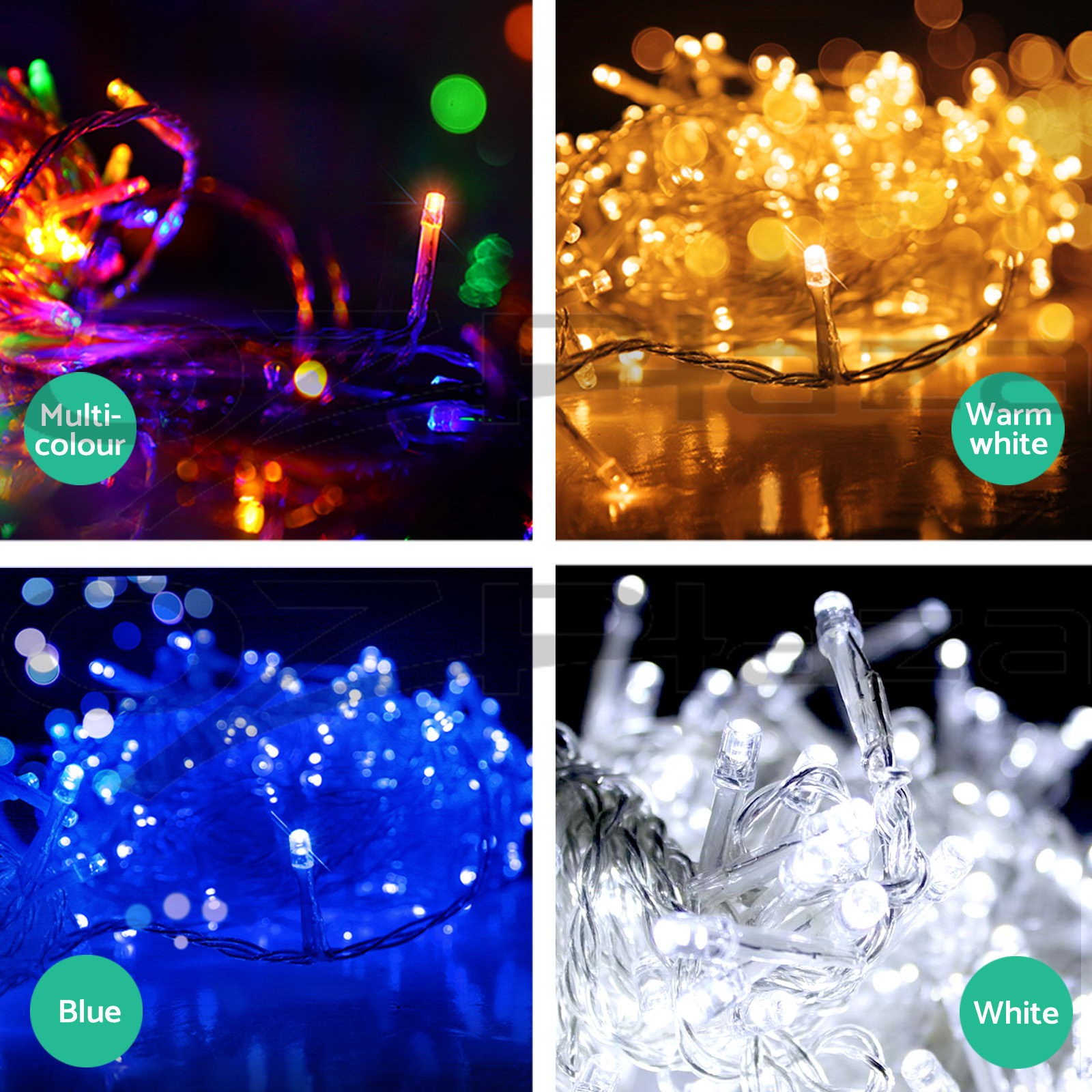 250 LED Christmas String Lights Fairy Party Wedding Outdoor Garden 4 Colours