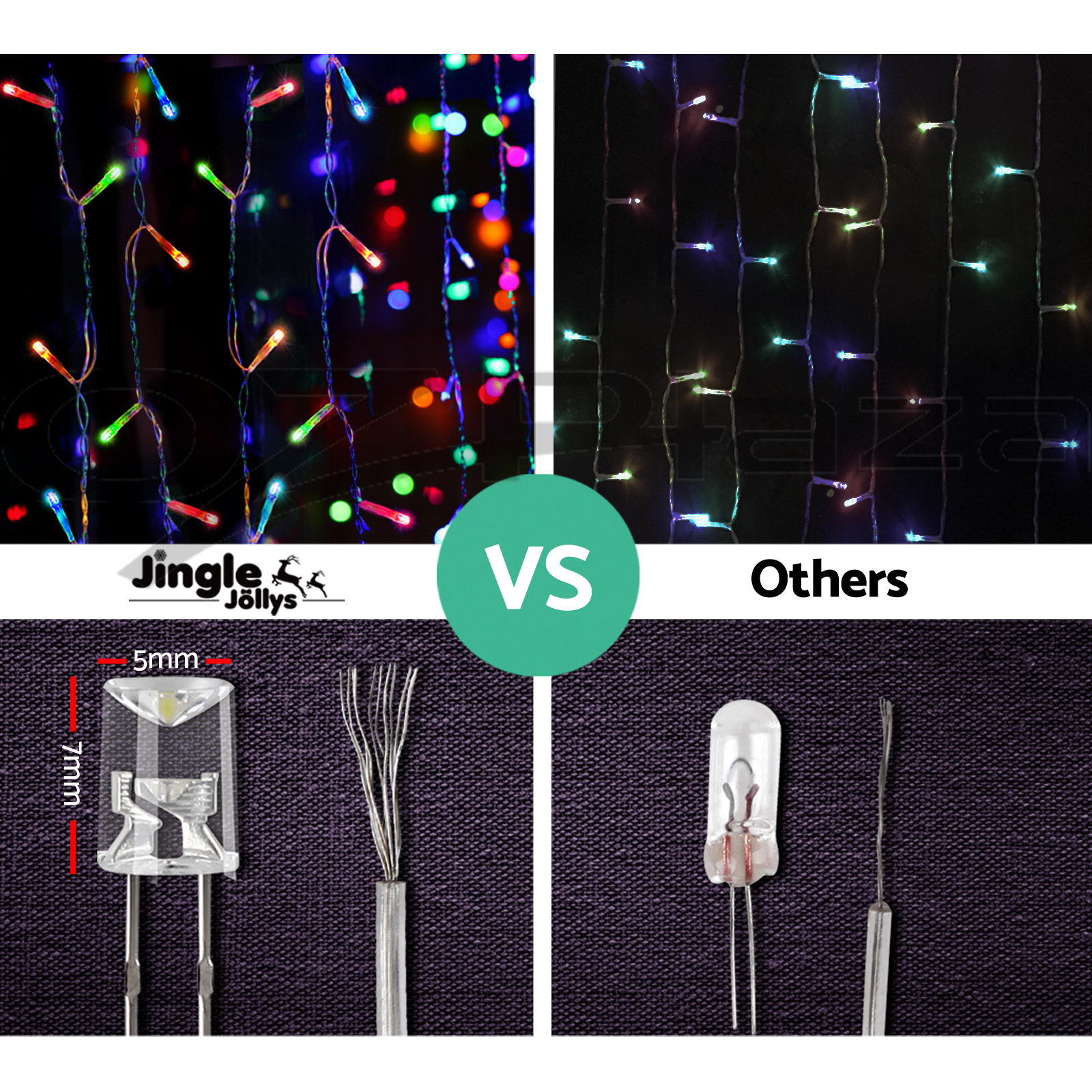 500 LED Christmas String Lights Fairy Party Wedding Outdoor Multi Colour
